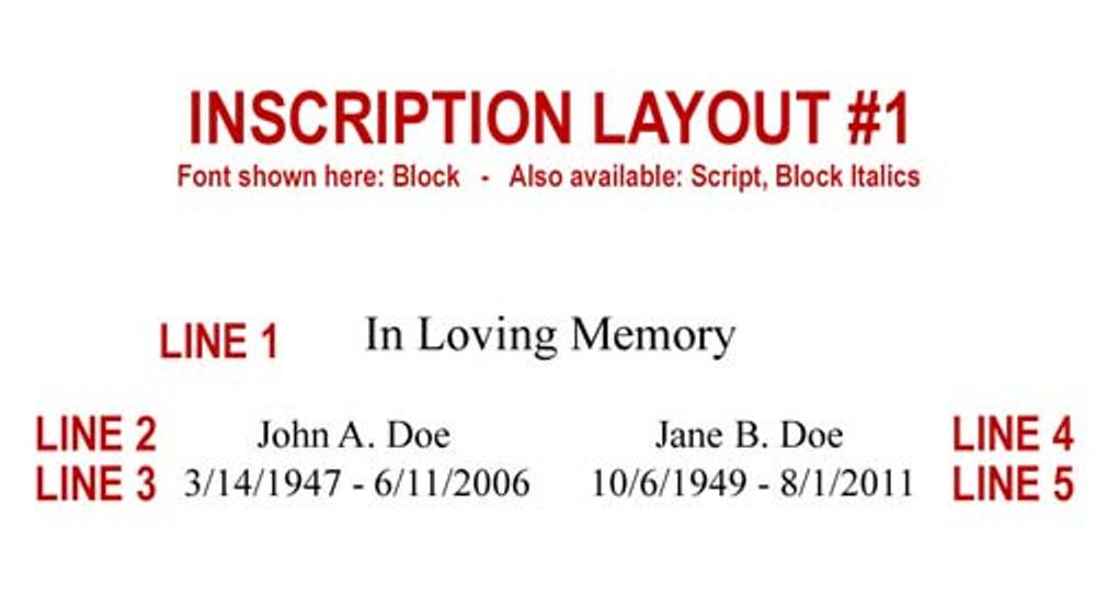 Inscription Layout 1