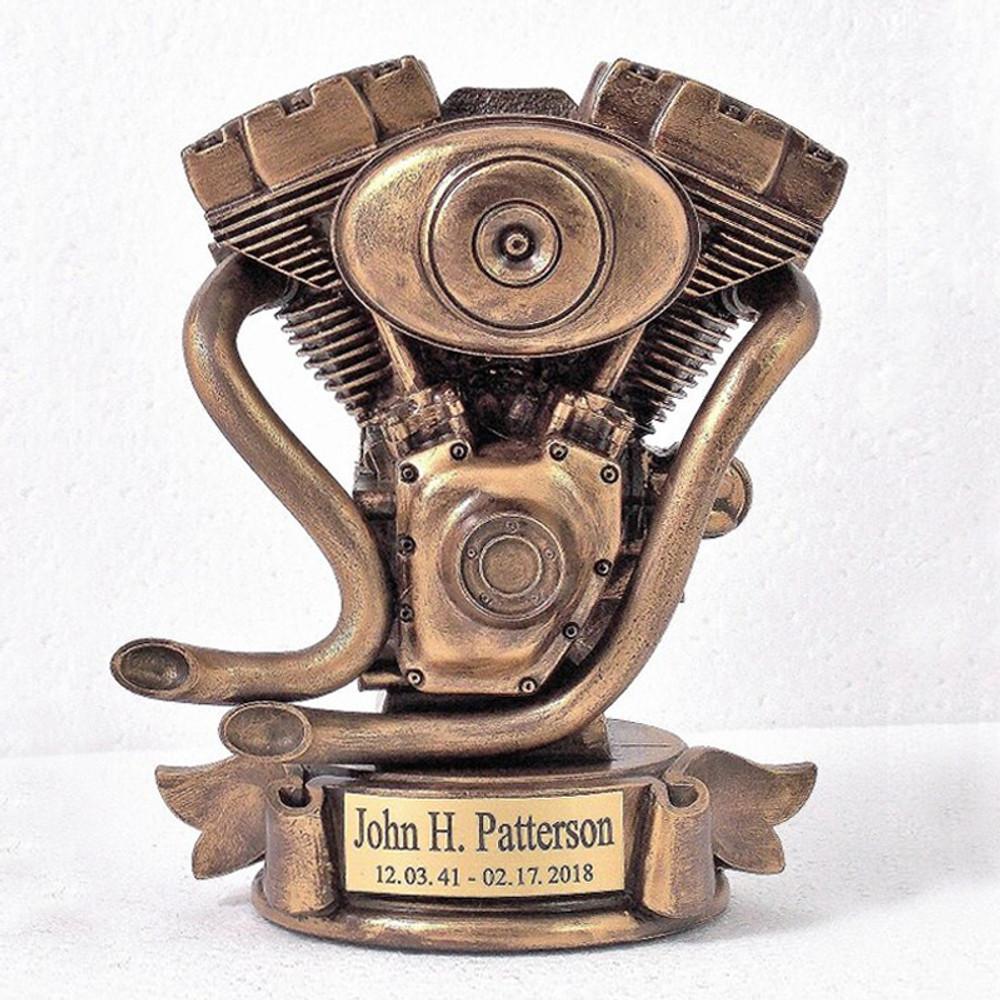 Motorcycle Engine Urn (Bust)