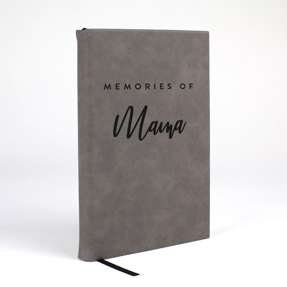Memories of You - Personalized Journal in Gray Leatherette