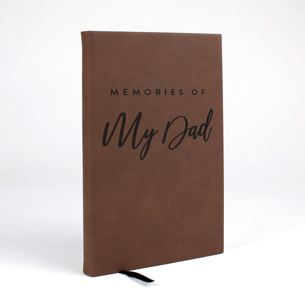Memories of You - Personalized Journal in Brown Leatherette