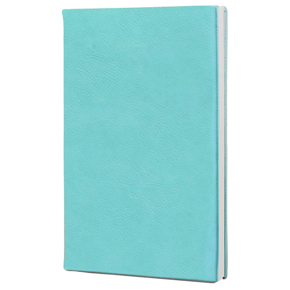 Personalized Sympathy Journal in Teal Leatherette