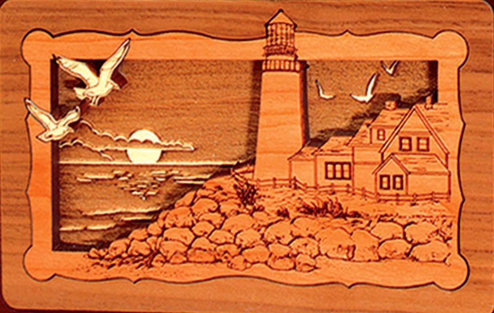 Lighthouse Scene - Companion Urn