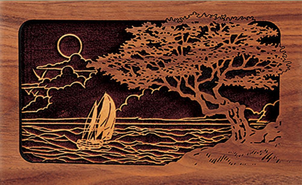 Seascape Scene - Companion Urn