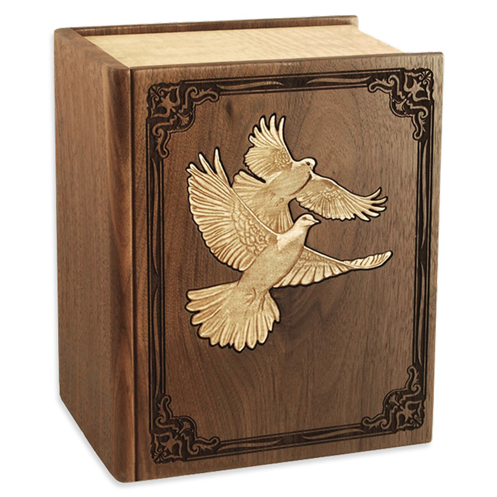 Walnut Wood Book Companion Urn