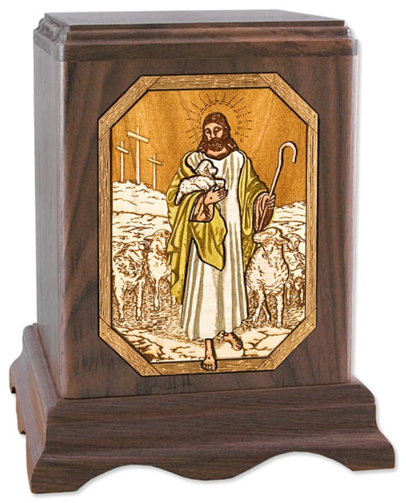 The Lord is My Shepherd | Walnut Urn