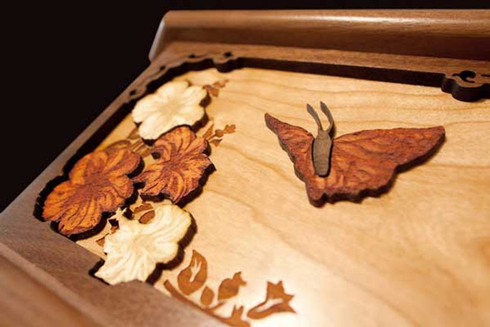 3-dimensional butterfly & flower
