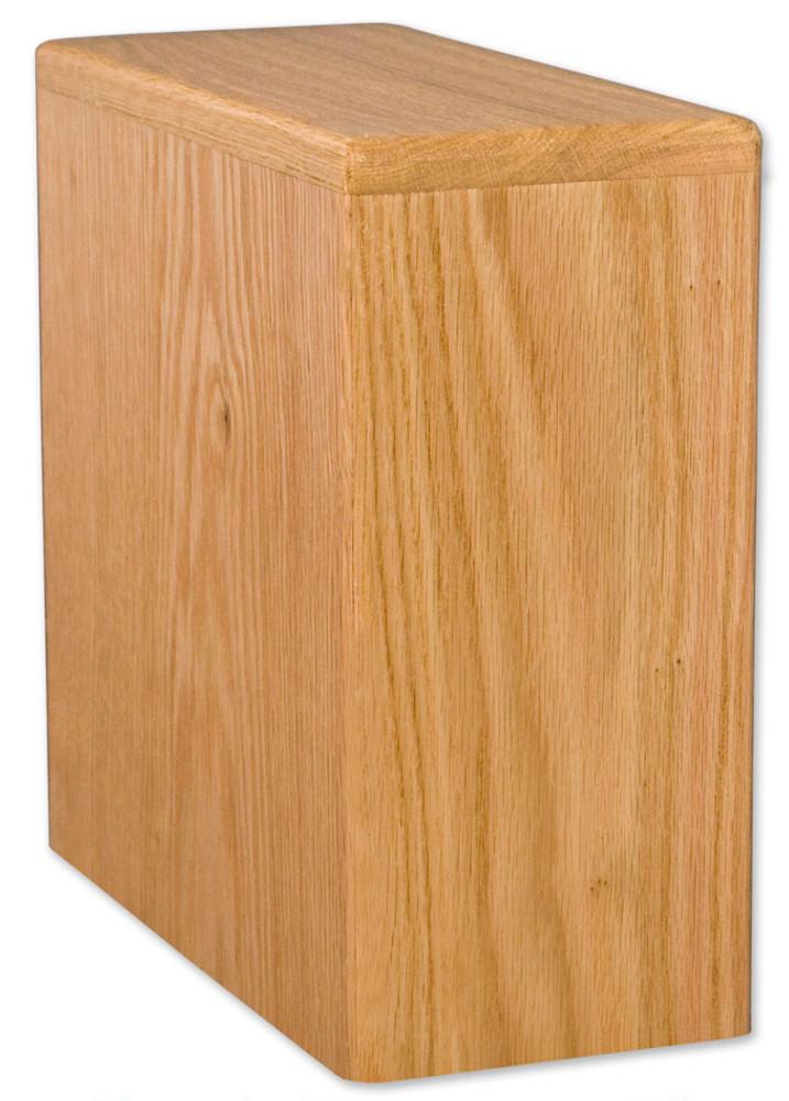 Bookshelf Budget Urn | Oak Finish