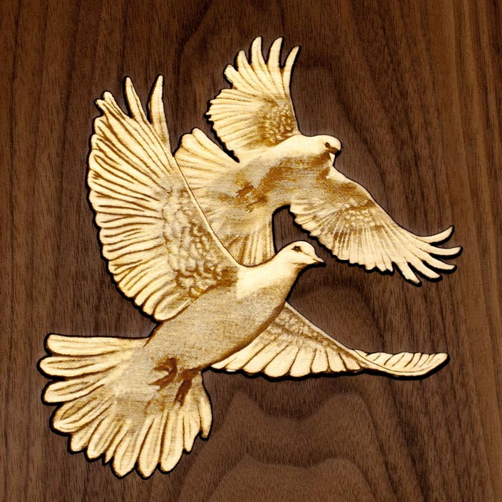 Doves inlay detail
