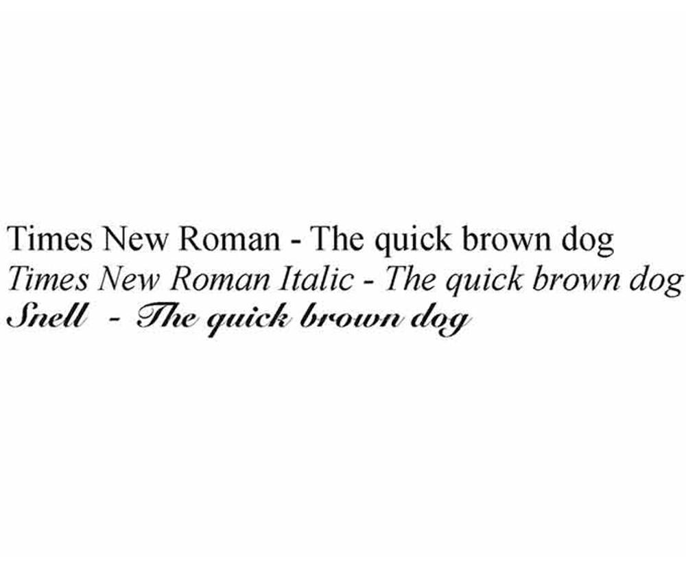 Personalization Fonts
