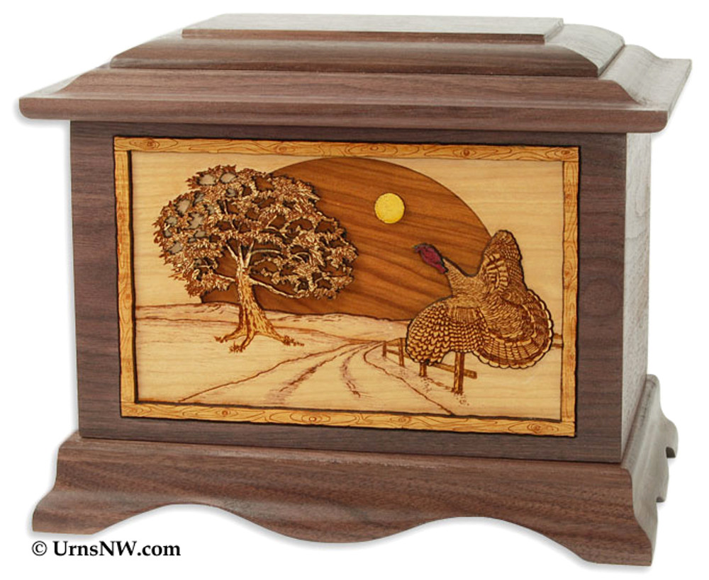 Heartland Turkey Cremation Urn - Walnut Wood