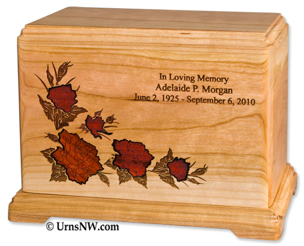 Rose Cremation Urn Personalized