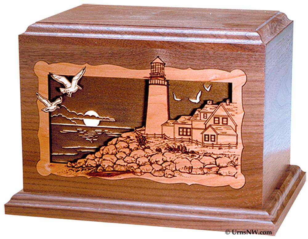 Lighthouse Wood Cremation Urn