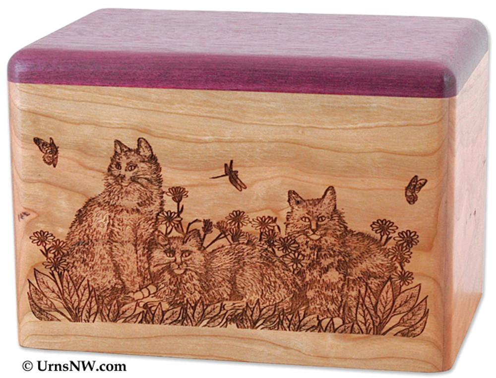 Cherry and Purple Heart Wood