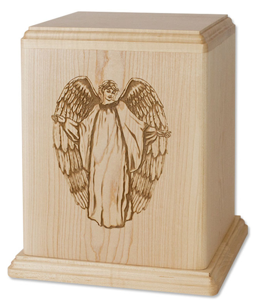 Guardian Angel Cremation Urn - Maple