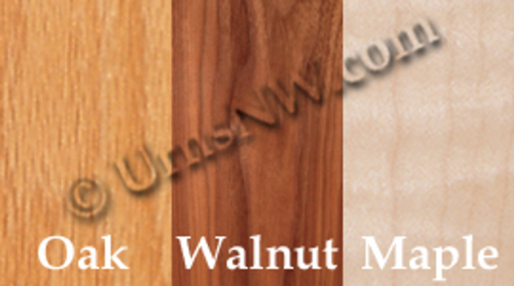 Urn Wood Choices: Oak, Walnut, Maple