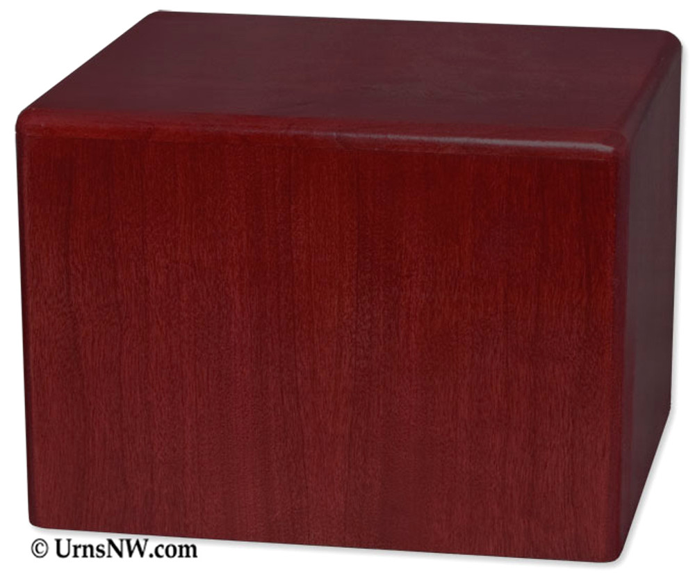 Wooden Pet Cremation Urn - Rosewood