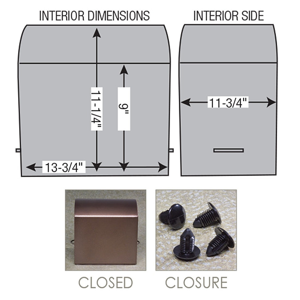 Clark Steel Burial Vault Diagram & Dimensions