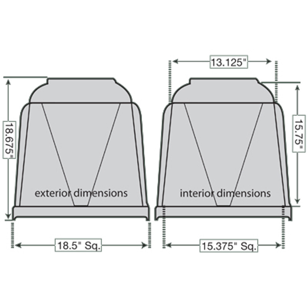 Vantage Standard 18-Inch Cremation Urn Burial Vault