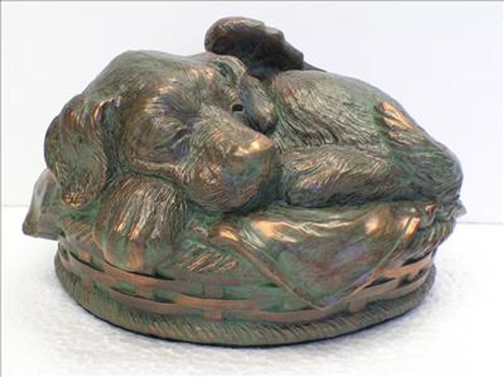 Dog Cremation Urn - Verdigris
