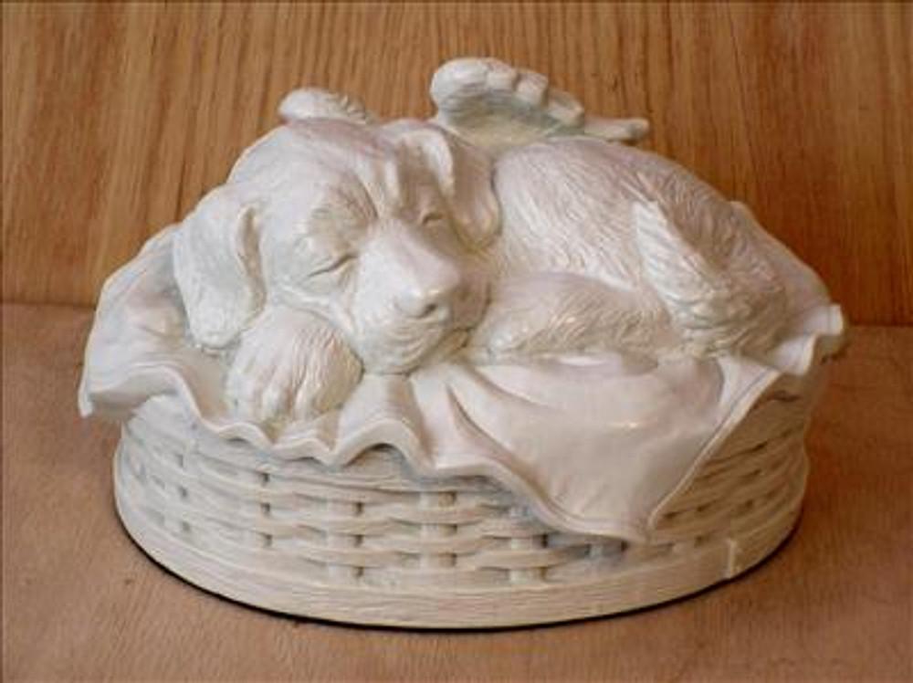 Dog Cremation Urn - White Porcelain