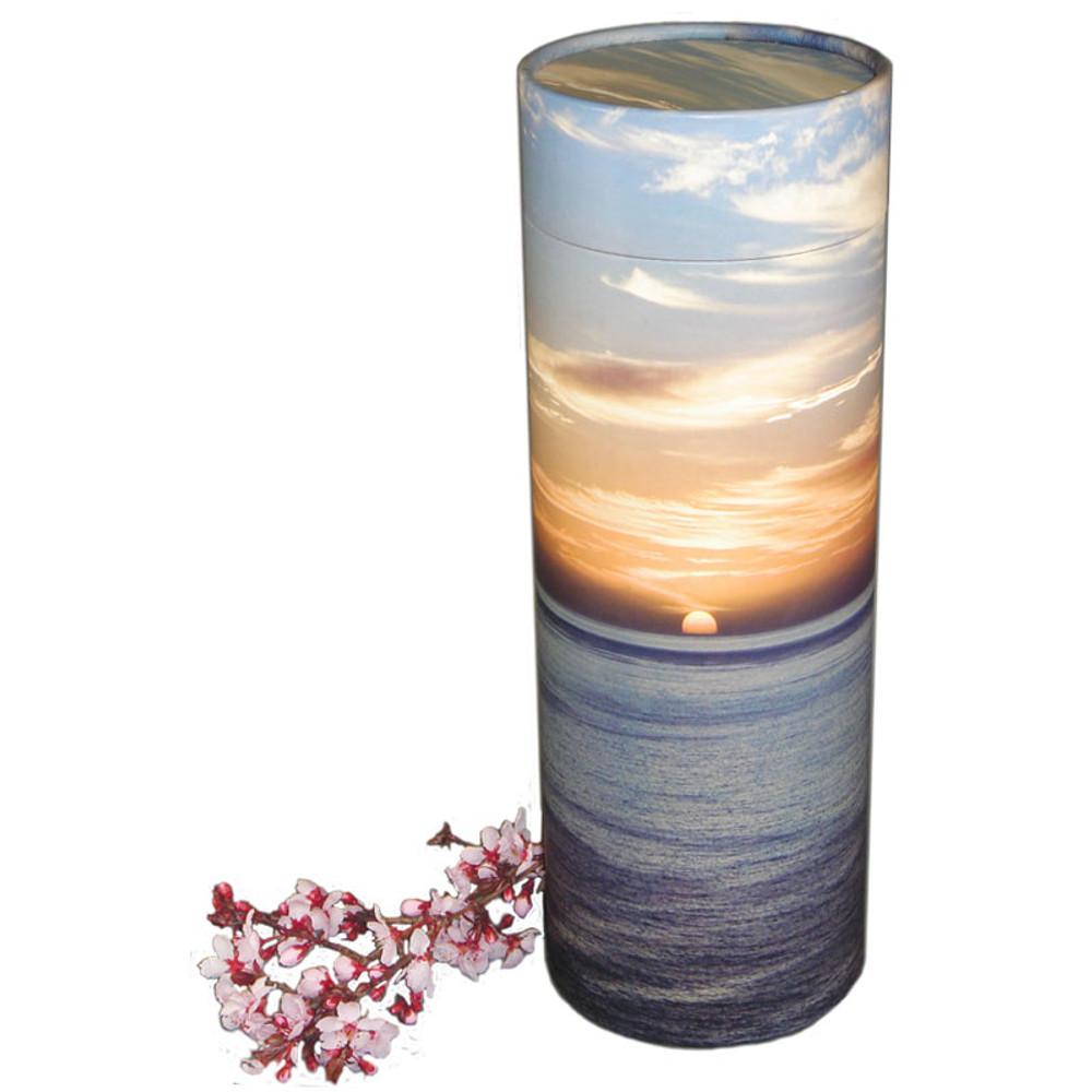 Ocean Sunset Scattering Urn Tube