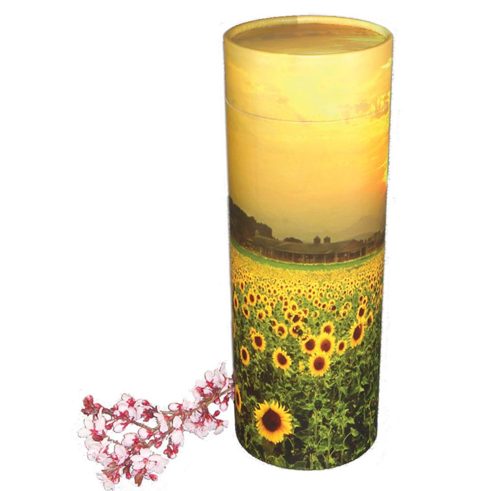 Sunflower Fields Scattering Urn Tube