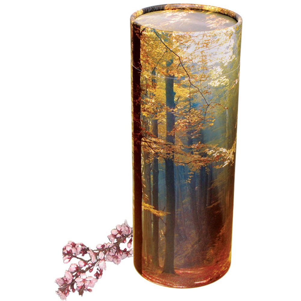 Autumn Woods Scattering Urn Tube