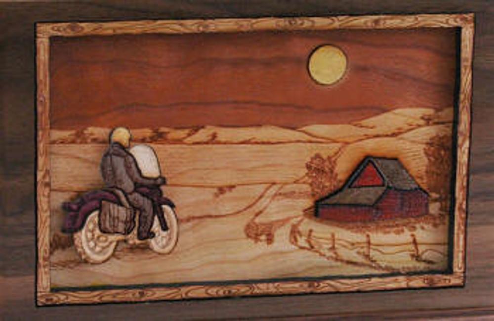 Companion Urn Scene: Bike and Moon