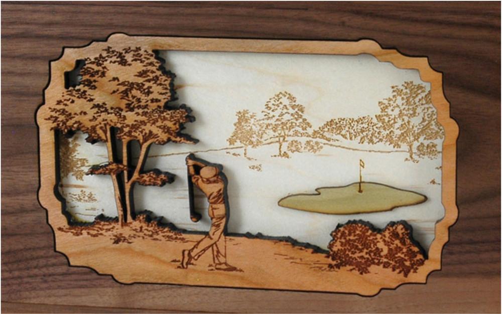 Companion Urn Scene: Golfer