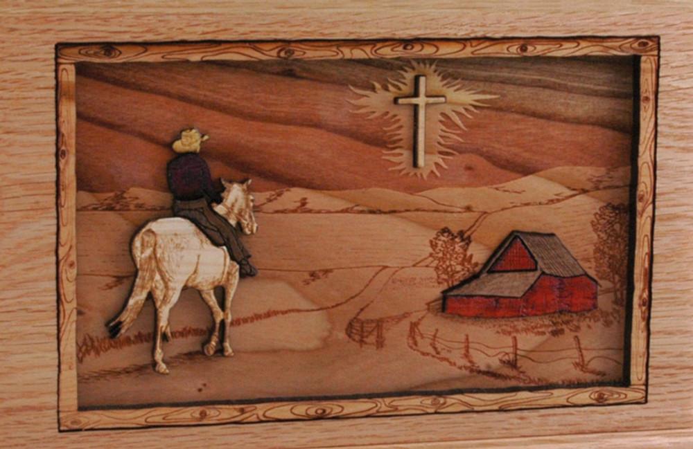 Companion Urn Scene: Horse and Cross