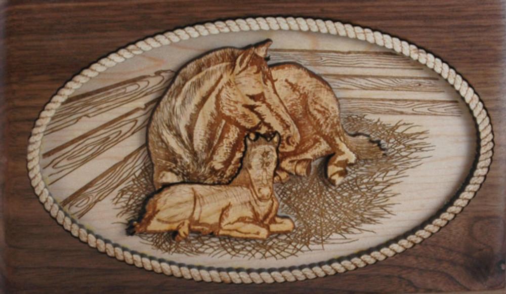 Companion Urn Scene: Horses