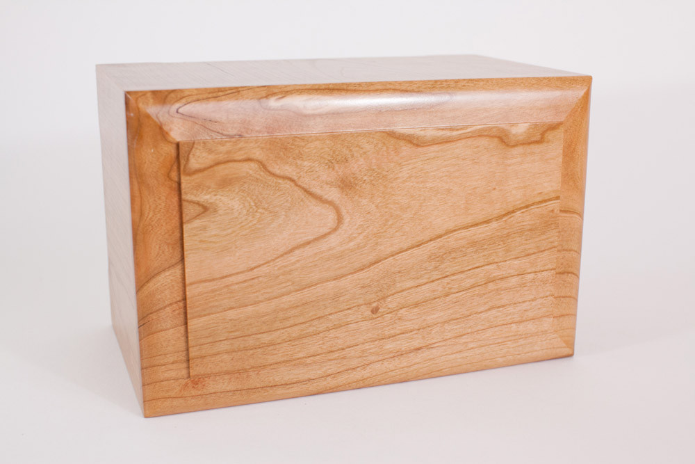 Top view - top is made from solid wood and can be personalizaed with engraved inscription