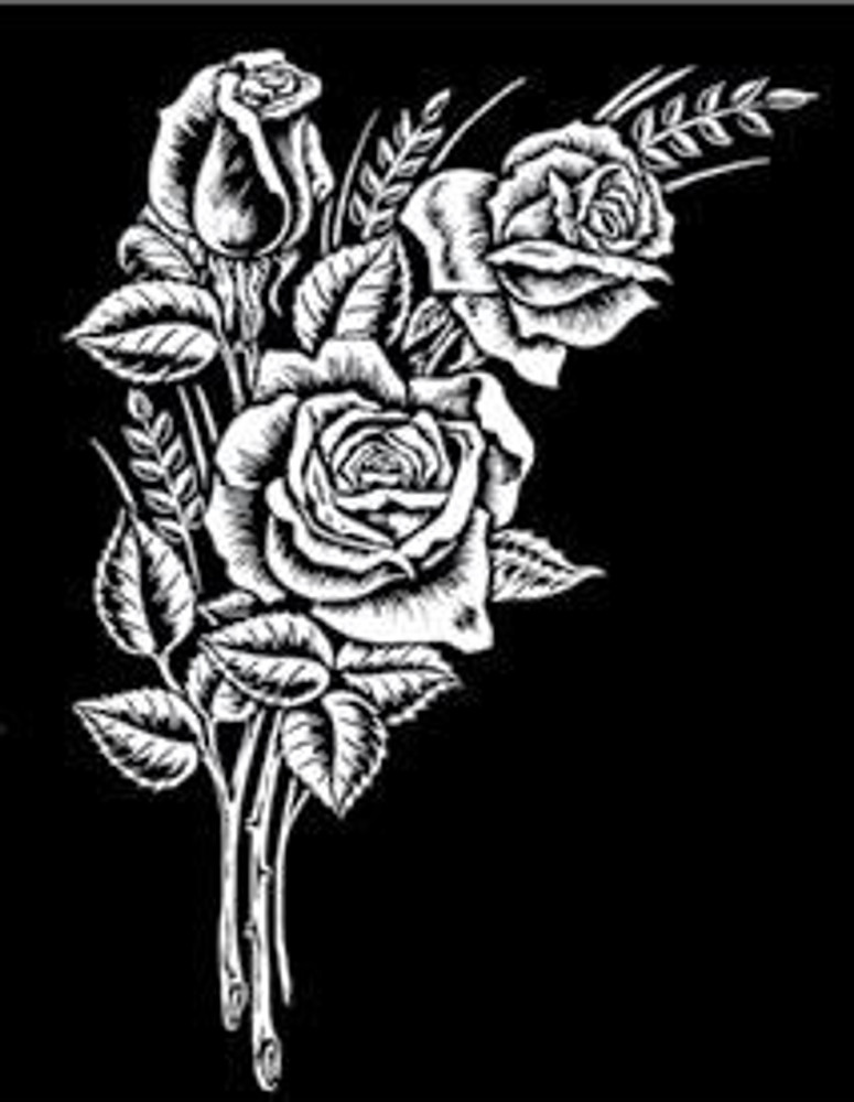 Urn Artwork | Rose Bouquet
