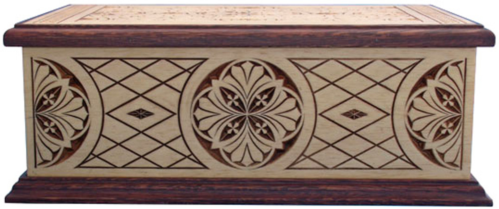 Acclaim Hand Carved Wood Cremation Urn