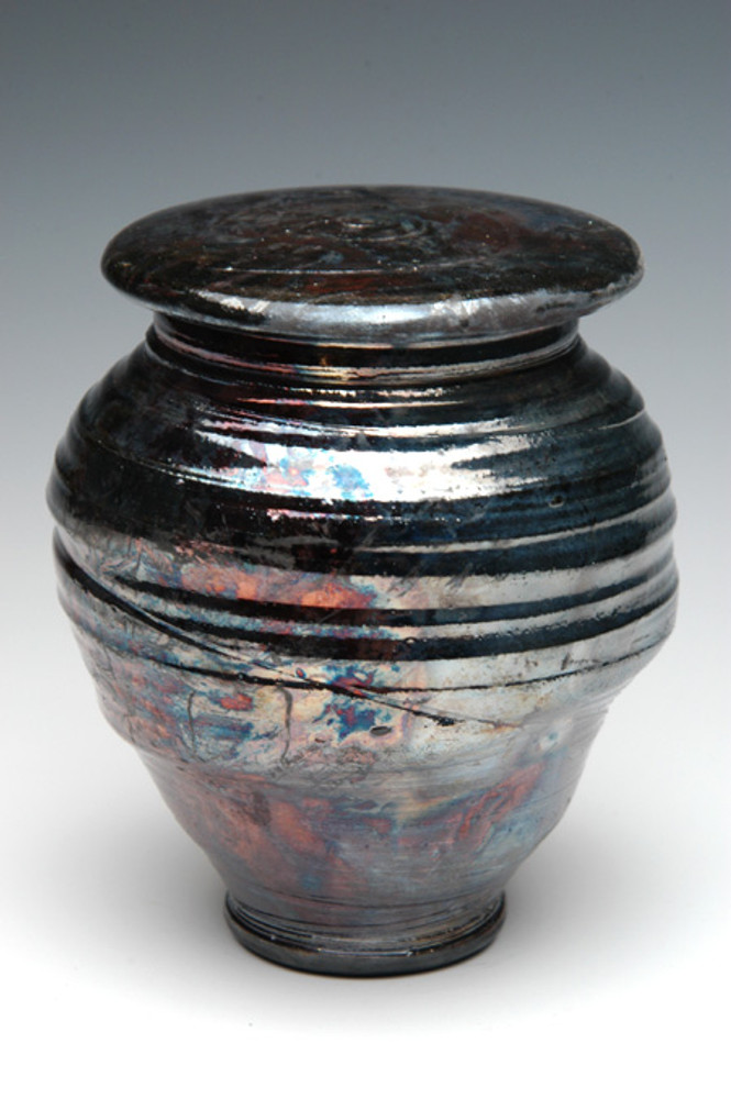 Raku Ceramic Urn | Simple Elegant Raku Urn | New Black Glaze