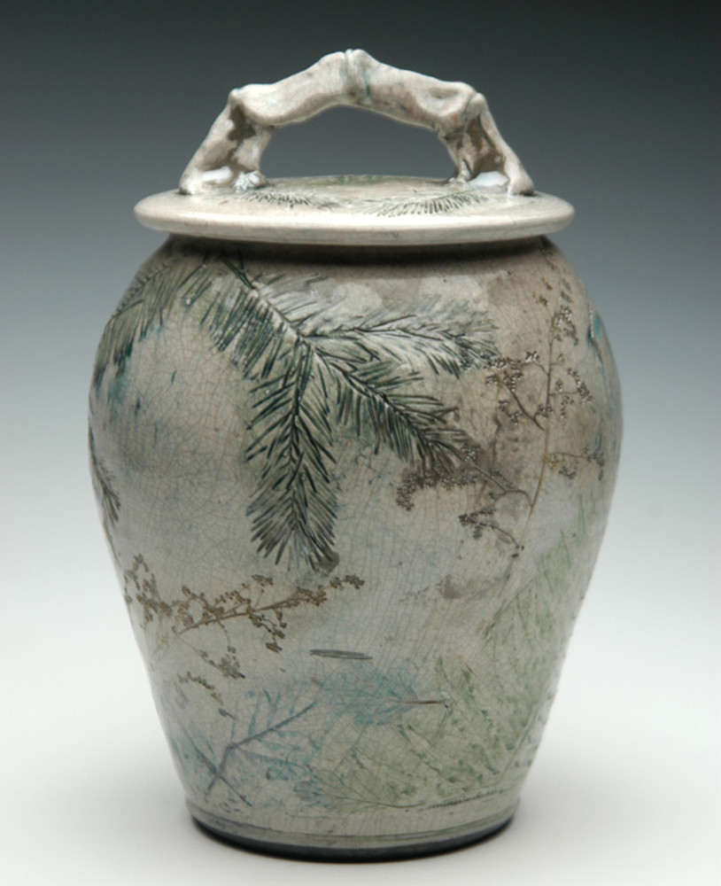 Forest Urn | Forest Ceramic Raku Urn | Ceramic Urns