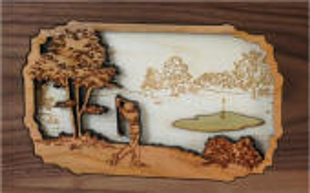Golf Urn Scene