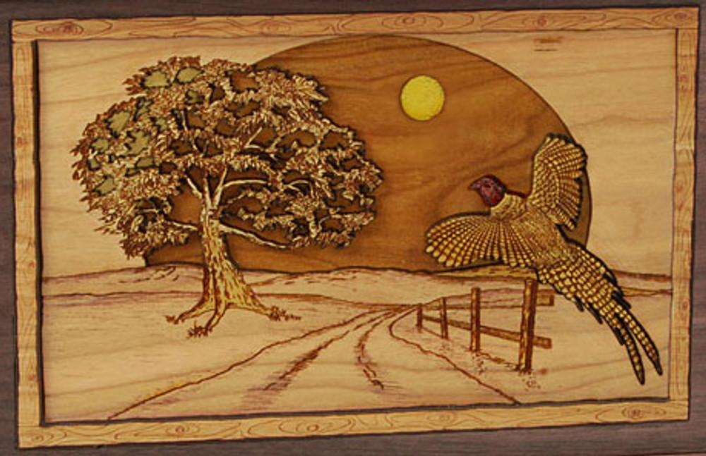 Pheasant Urn Scene