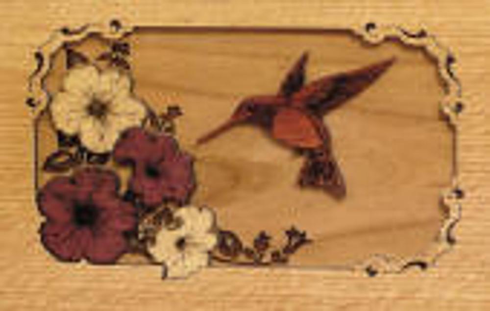 Hummingbird Urn Scene