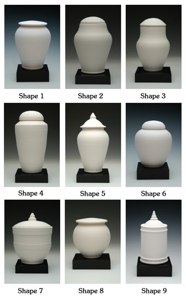 Ceramic Pottery Urn Shapes