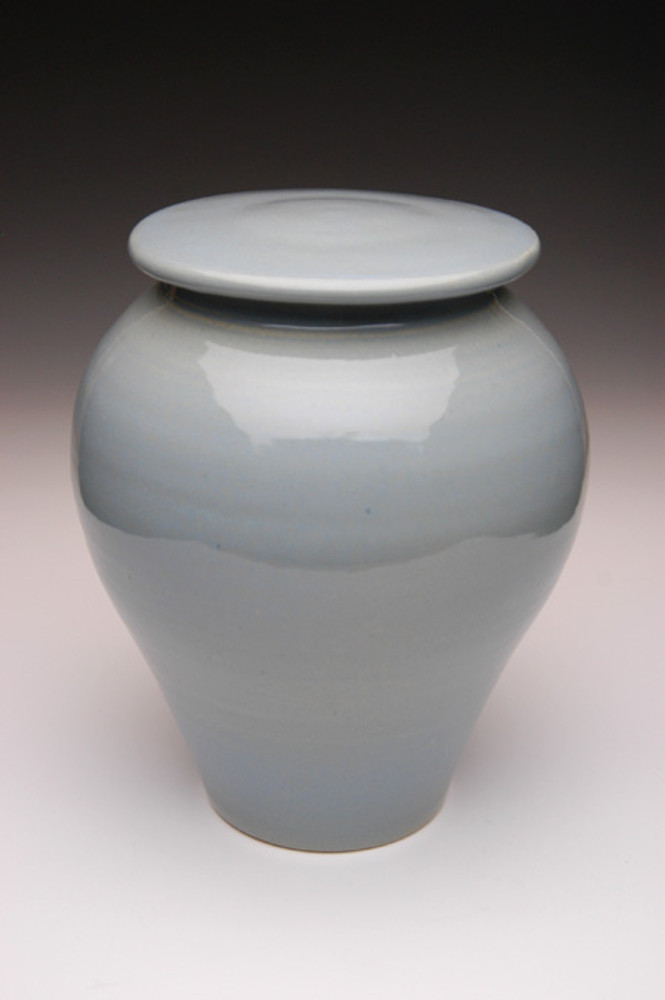 Powder Blue Ceramic Urn | Ceramic Pottery Urns