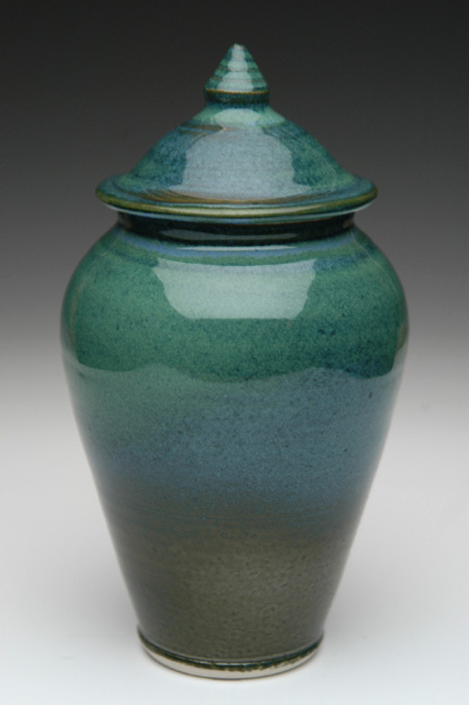 Sapphire Blue Ceramic Urn | Funeral Urns for Ashes