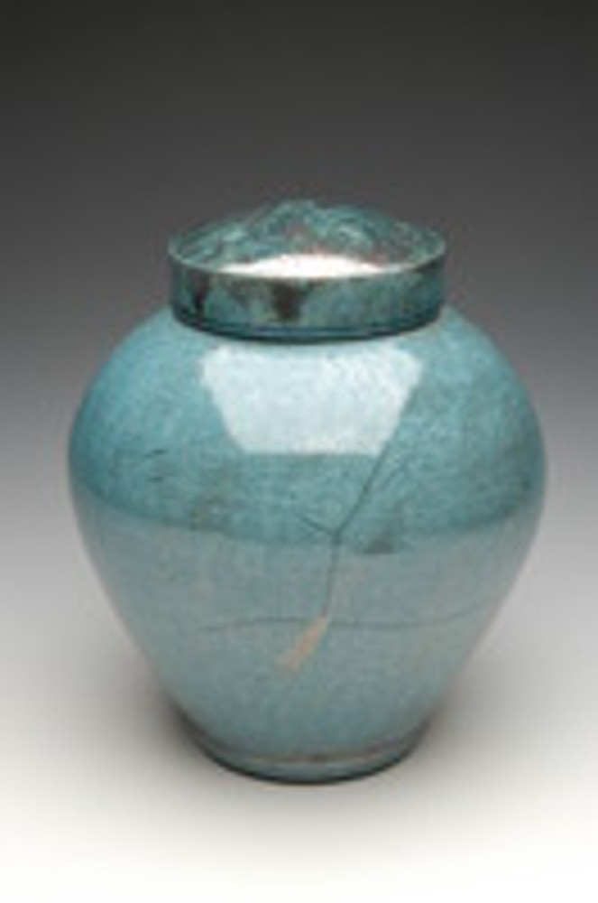 Asian Calligraphy Cremation Urn | Aqua Luster