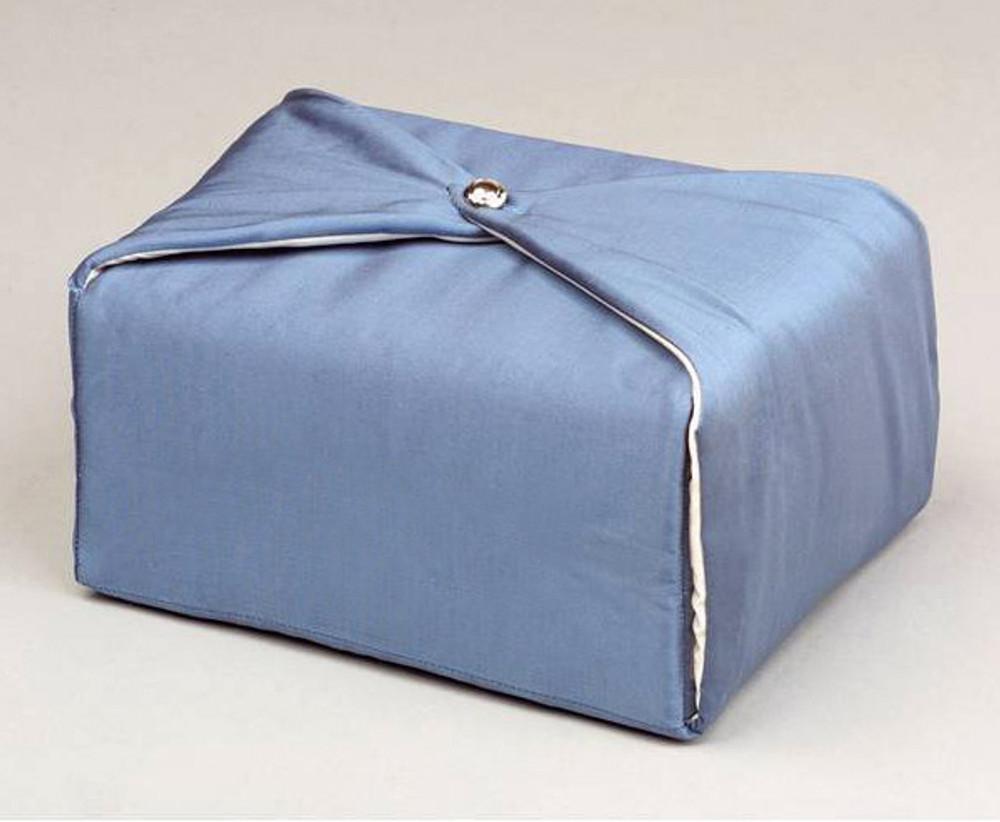 Silk Fabric Cremation Urn in Steel Blue | Silk Urns