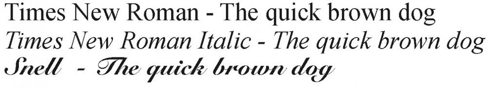Fonts for Clock Urn Engraving