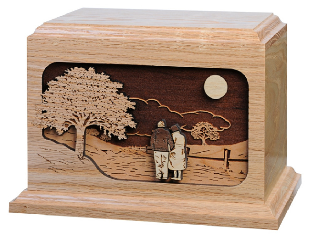 Together Again Companion Urn | Oak