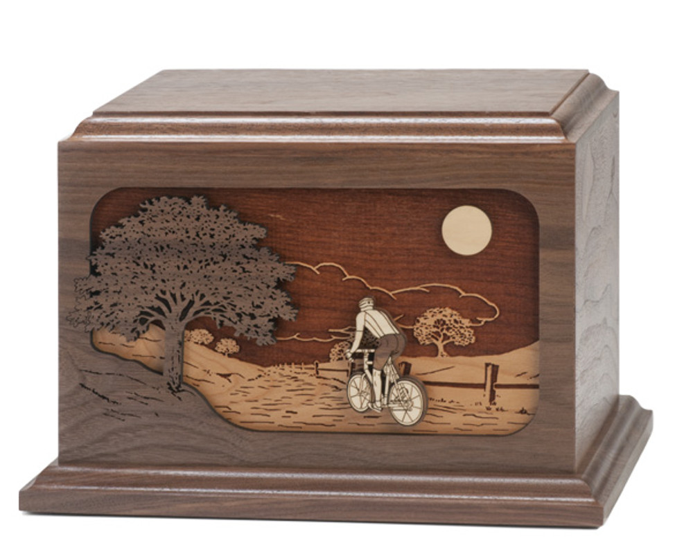 Bicycle Road Home Urn