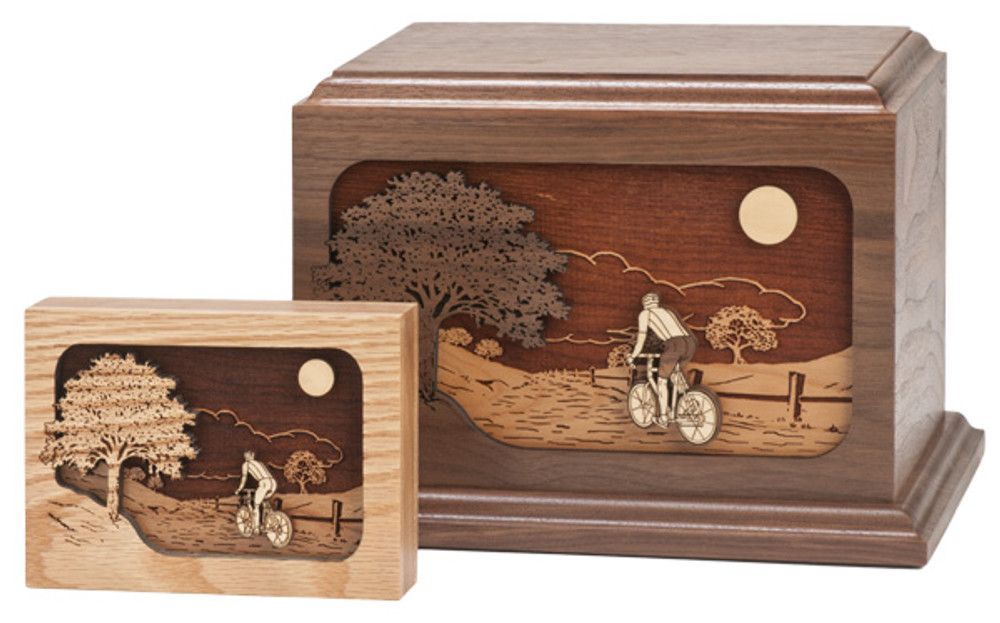 Bicycle Urn and Matching Keepsake