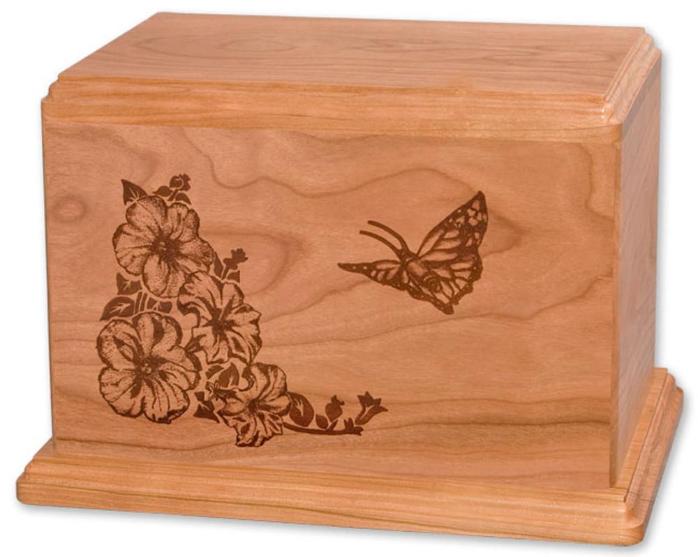 Laser Carved Butterfly Urn