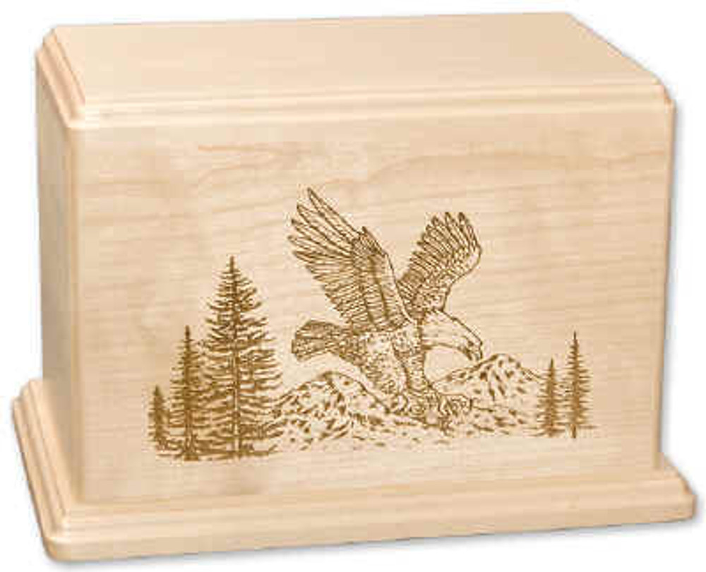 Laser Carved Eagle Urn | Maple